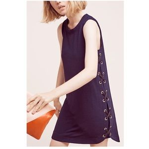 ANTHRO Sunday in Brooklyn Isolde Lace-Up Navy Mini